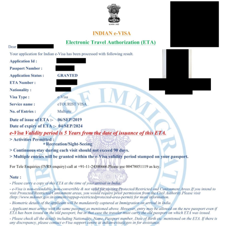 онлайн виза в Индию оформление